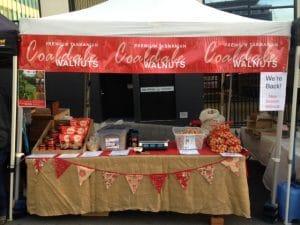 Coaldale Walnuts Farm Gate Markets stall