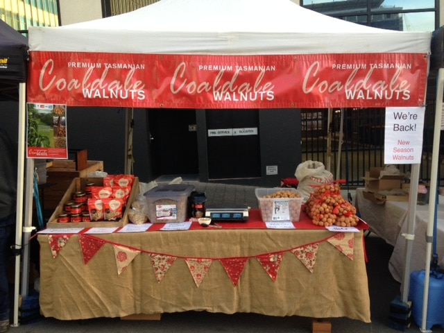 Coaldale Walnuts Farm Gate Markets stall
